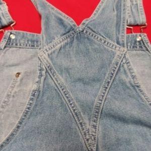 Denim & Co Women's Bib Overhuals size 1X